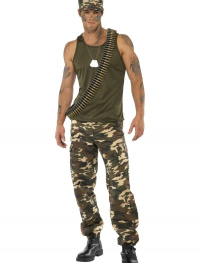 Male Khaki Camo Costume, halloween costume (Male Khaki Camo Costume)