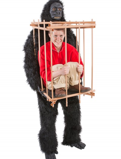 Man in a Gorilla Cage Costume, halloween costume (Man in a Gorilla Cage Costume)