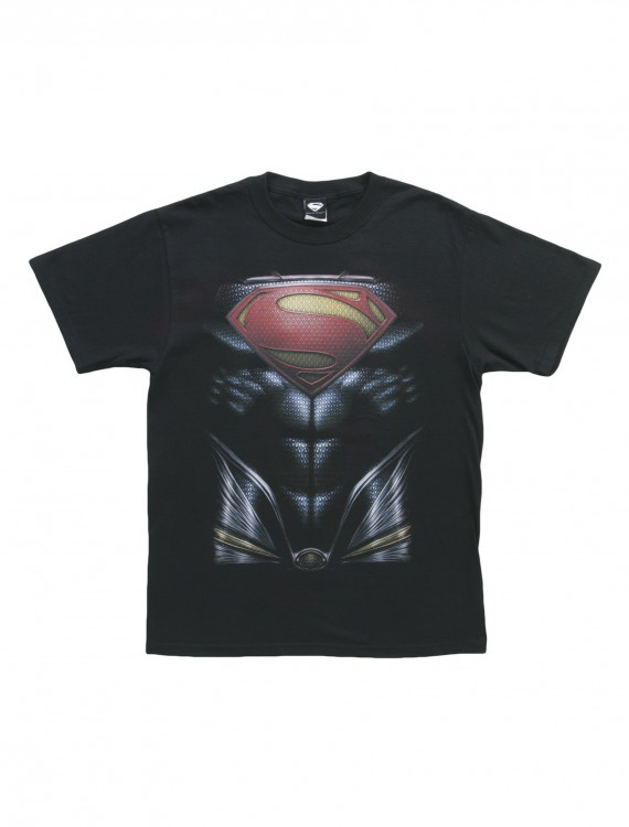 Man of Steel Superman Costume T-Shirt, halloween costume (Man of Steel Superman Costume T-Shirt)