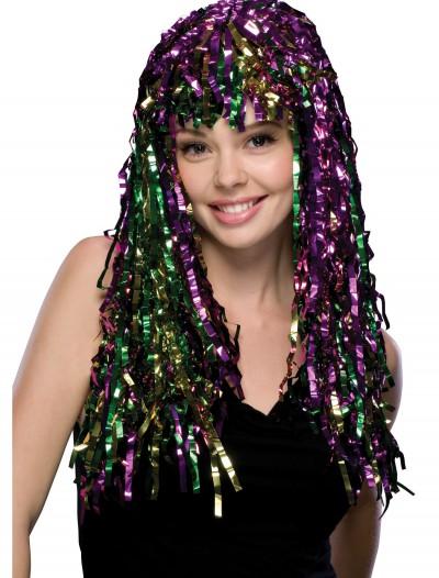 Mardi Gras Tinsel Wig, halloween costume (Mardi Gras Tinsel Wig)