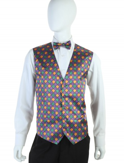 Mardi Gras Vest and Tie Set, halloween costume (Mardi Gras Vest and Tie Set)