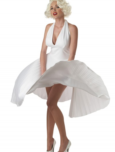 Marilyn Monroe Deluxe White Halter Dress, halloween costume (Marilyn Monroe Deluxe White Halter Dress)