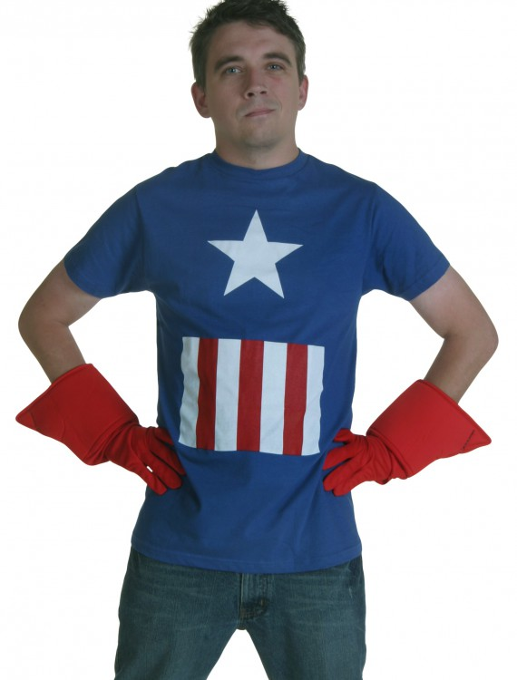Marvel Captain America T-Shirt, halloween costume (Marvel Captain America T-Shirt)