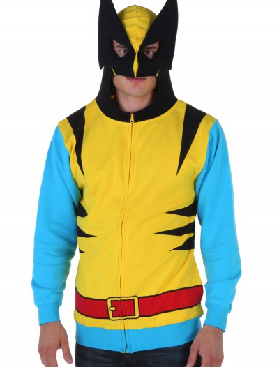 Marvel Wolverine Mens Yellow Suit Up Hoodie, halloween costume (Marvel Wolverine Mens Yellow Suit Up Hoodie)