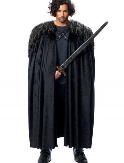 Medieval Fur Trimmed Black Cape, halloween costume (Medieval Fur Trimmed Black Cape)