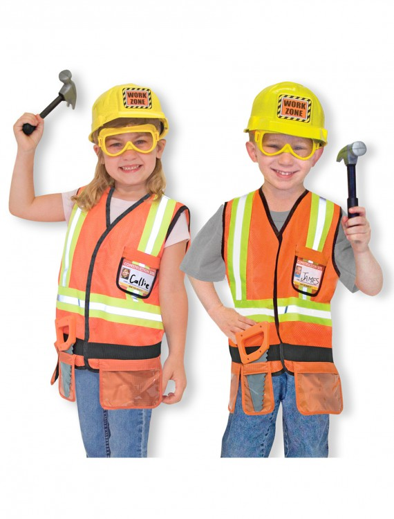 Melissa and Doug Construction Worker Costume, halloween costume (Melissa and Doug Construction Worker Costume)