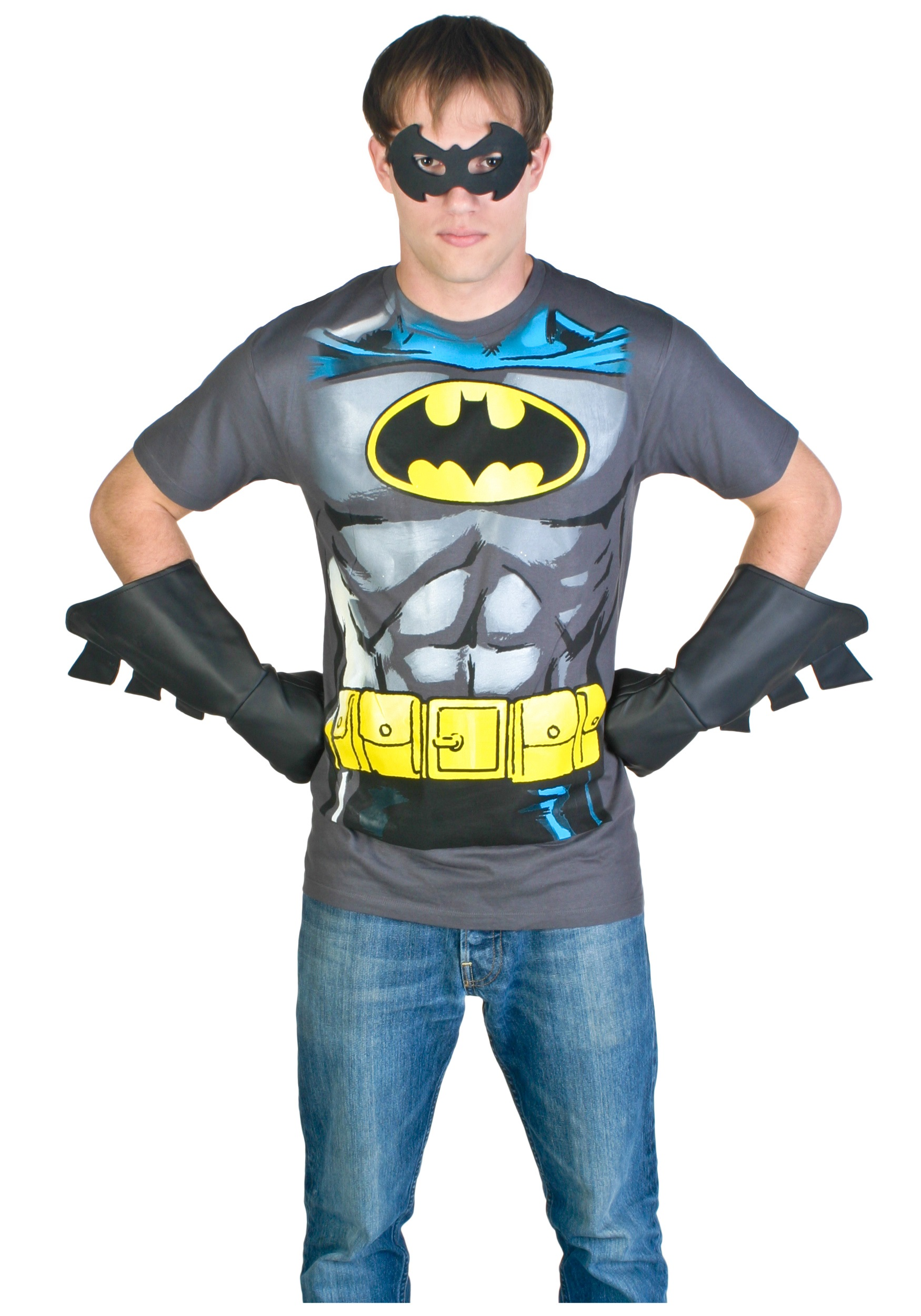 Menu0027s Batman Costume T-Shirt  sc 1 st  Halloween Costumes & Menu0027s Batman Costume T-Shirt - Halloween Costumes