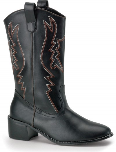 Mens Black Cowboy Boots, halloween costume (Mens Black Cowboy Boots)