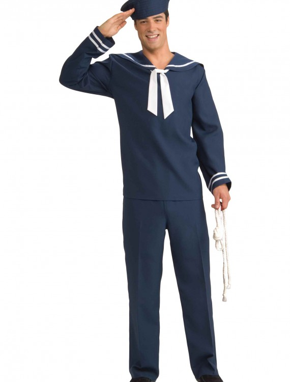 Men's Blue Sailor Costume, halloween costume (Men's Blue Sailor Costume)