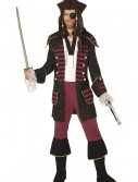 Mens Burgundy Pirate Costume, halloween costume (Mens Burgundy Pirate Costume)