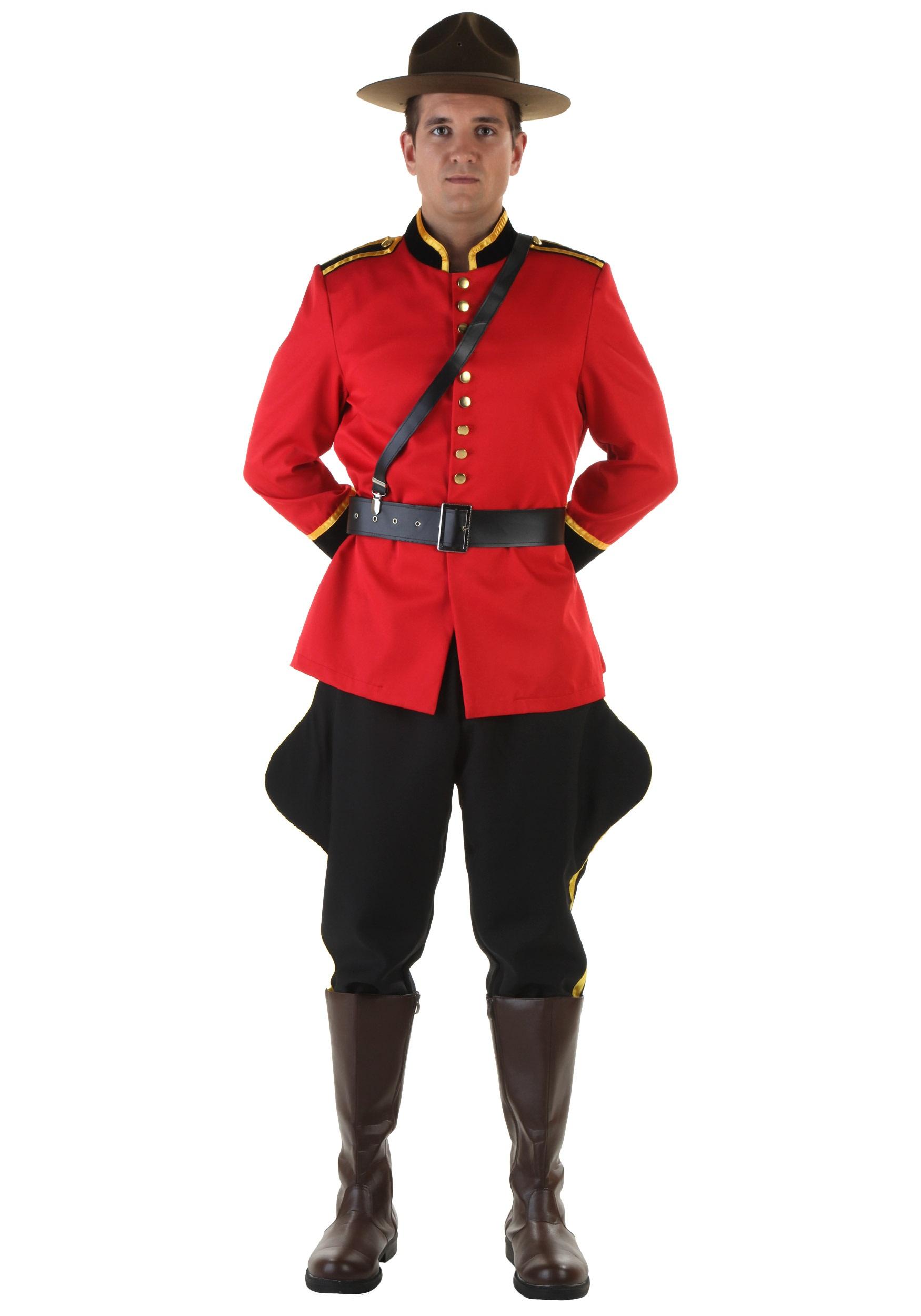 men's canadian mountie costume - halloween costumes