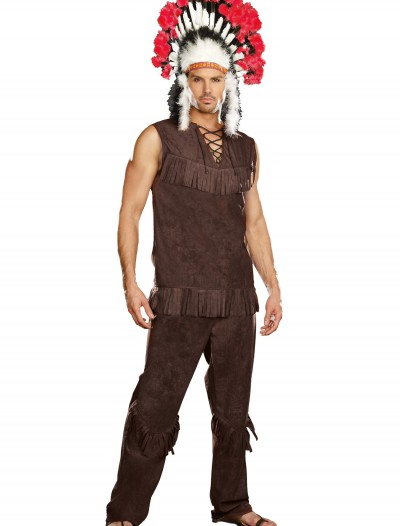 Mens Chief Long Arrow Indian Costume, halloween costume (Mens Chief Long Arrow Indian Costume)