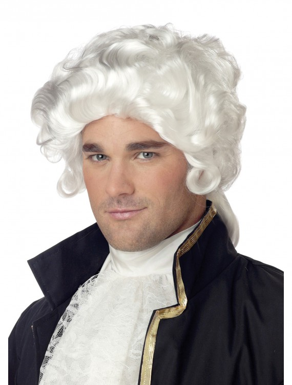 Mens Colonial Wig, halloween costume (Mens Colonial Wig)