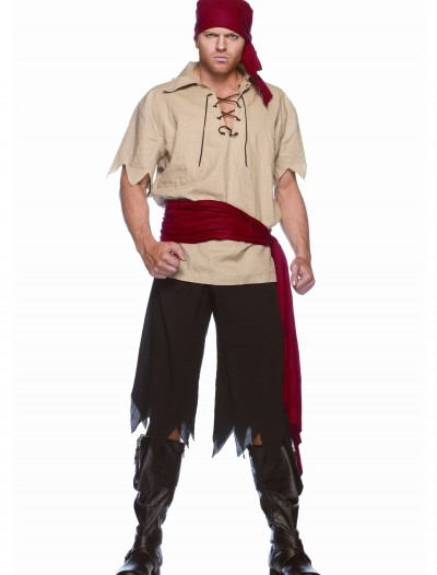 Men's Cutthroat Pirate Costume, halloween costume (Men's Cutthroat Pirate Costume)
