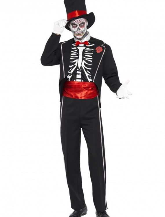Mens Day of the Dead Costume, halloween costume (Mens Day of the Dead Costume)
