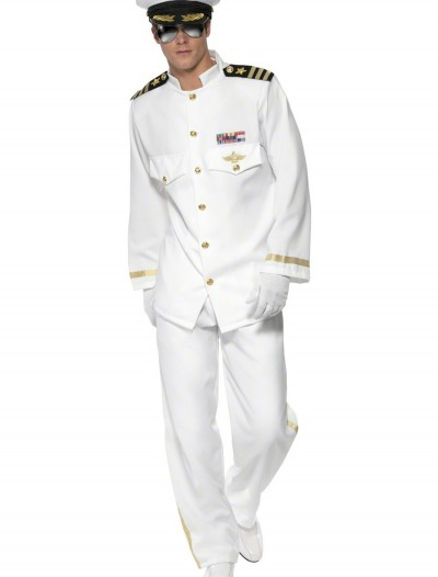 Mens Deluxe Captain Costume, halloween costume (Mens Deluxe Captain Costume)