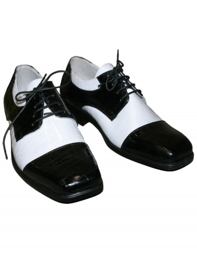 Men's Deluxe Gangster Shoes, halloween costume (Men's Deluxe Gangster Shoes)