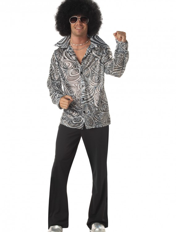Mens Disco Shirt, halloween costume (Mens Disco Shirt)