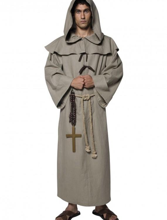 Mens Friar Tuck Costume, halloween costume (Mens Friar Tuck Costume)