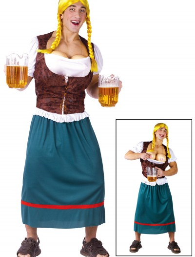 Mens German Beer Girl Costume, halloween costume (Mens German Beer Girl Costume)