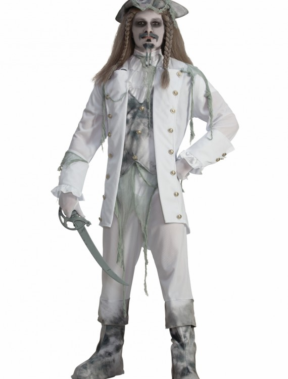 Men's Ghost Captain Pirate Costume, halloween costume (Men's Ghost Captain Pirate Costume)