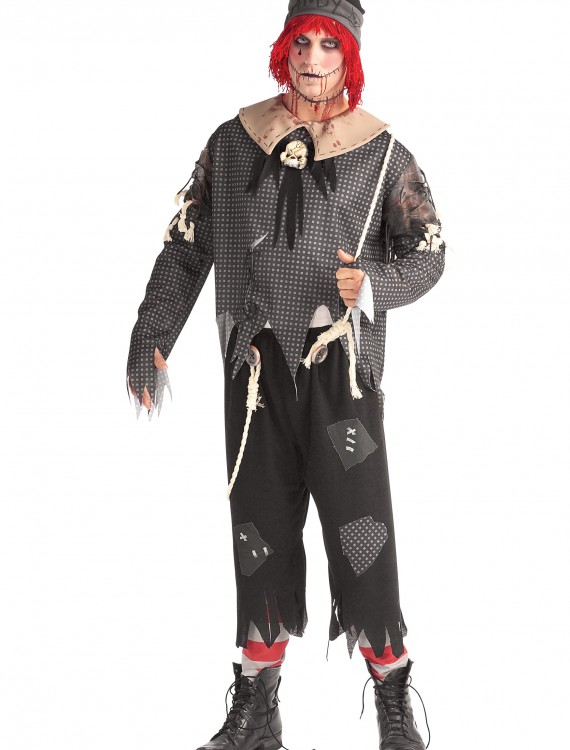 Mens Gothic Ragdoll Boy Costume, halloween costume (Mens Gothic Ragdoll Boy Costume)