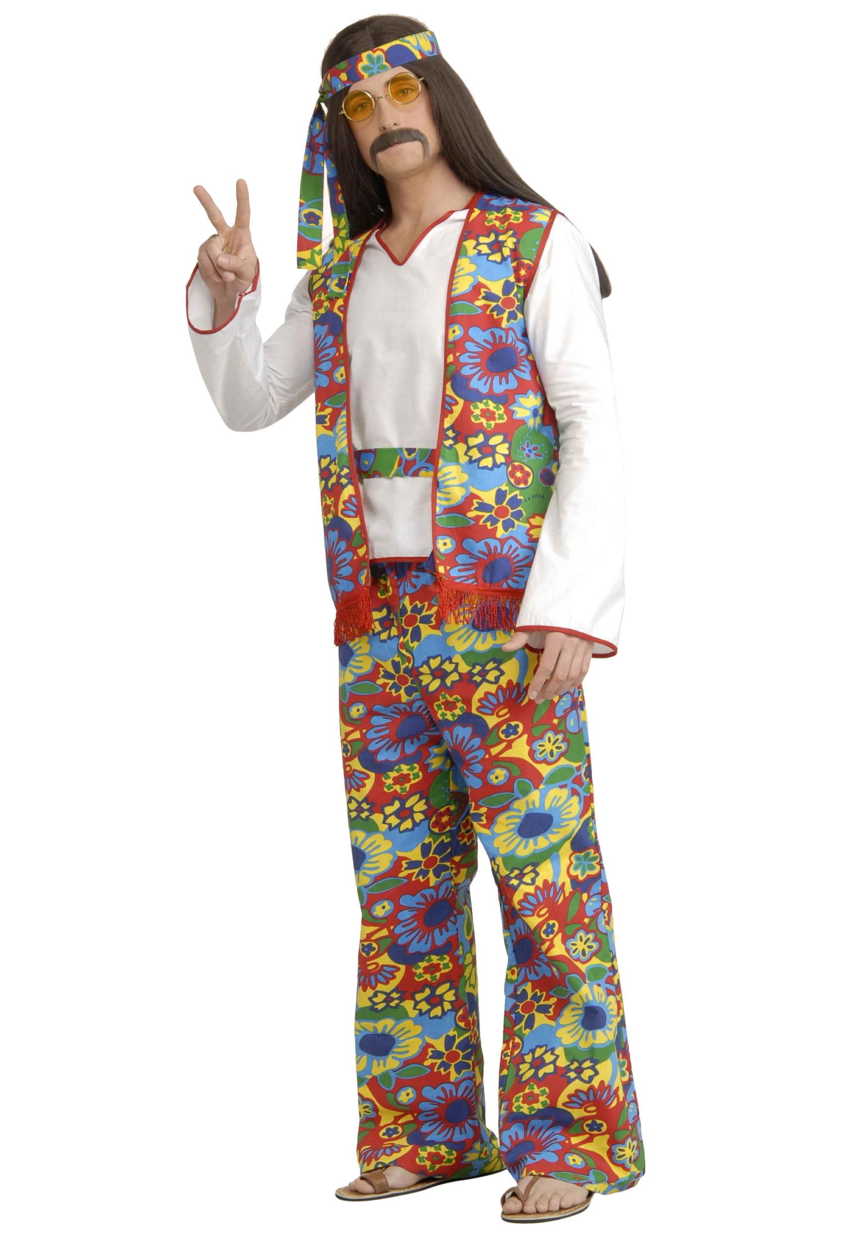 Menu0027s Hippie Costume  sc 1 st  Halloween Costumes & Menu0027s Hippie Costume - Halloween Costumes