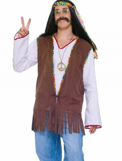 Men's Hippie Vest, halloween costume (Men's Hippie Vest)