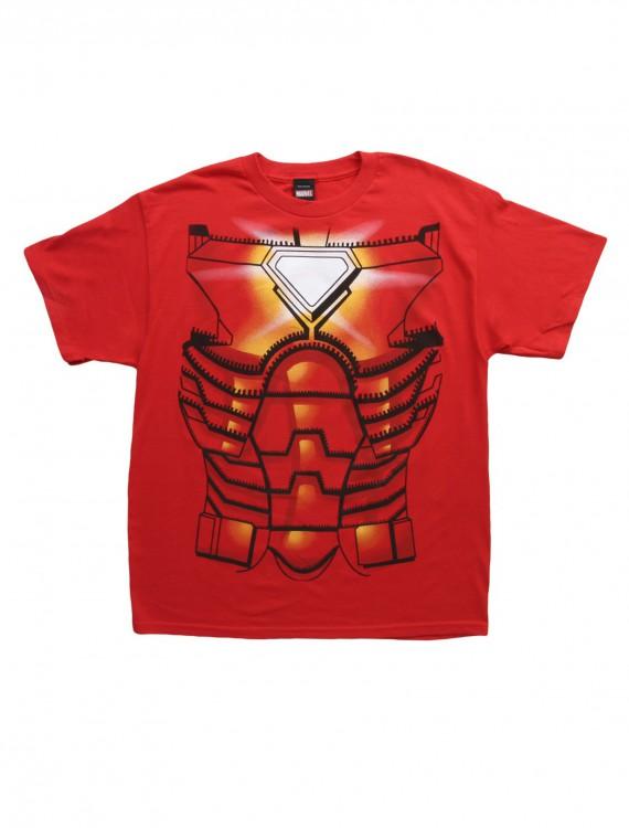 Mens Iron Man Costume Jumbo T-Shirt, halloween costume (Mens Iron Man Costume Jumbo T-Shirt)