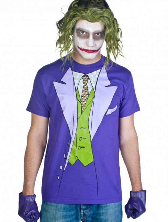 Men's Joker Costume T-Shirt, halloween costume (Men's Joker Costume T-Shirt)