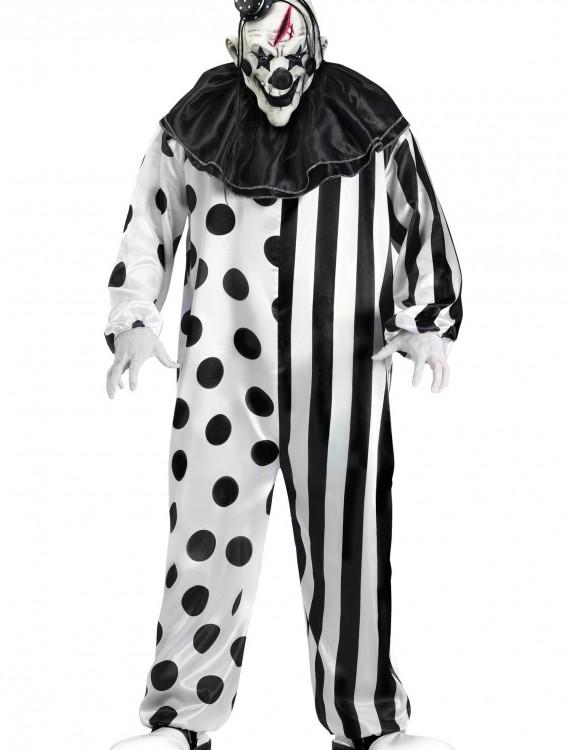 Mens Killer Clown Costume, halloween costume (Mens Killer Clown Costume)