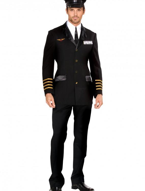 Men's Mile High Pilot Costume, halloween costume (Men's Mile High Pilot Costume)