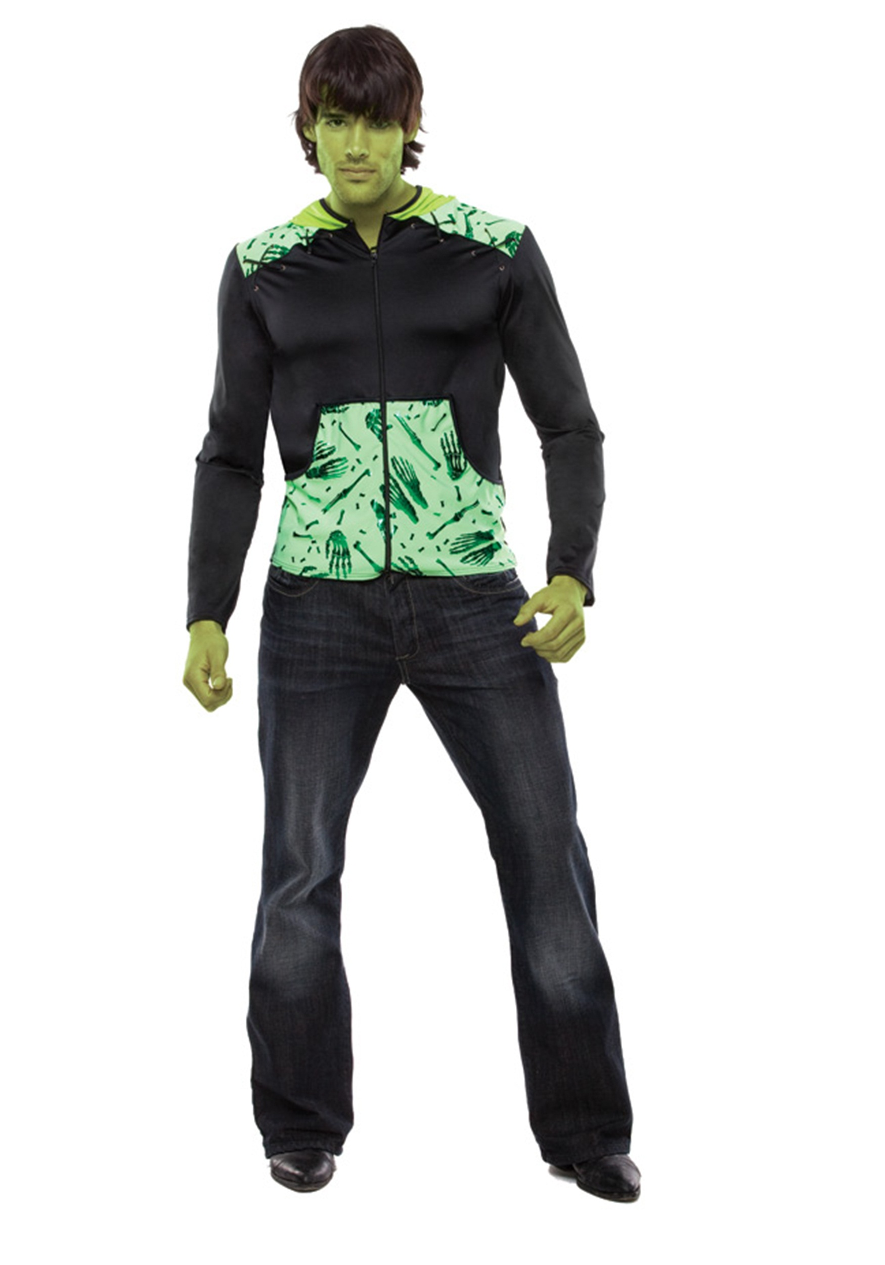 Halloween Costumes Scary Men.Mens Monster Costume Hoodie