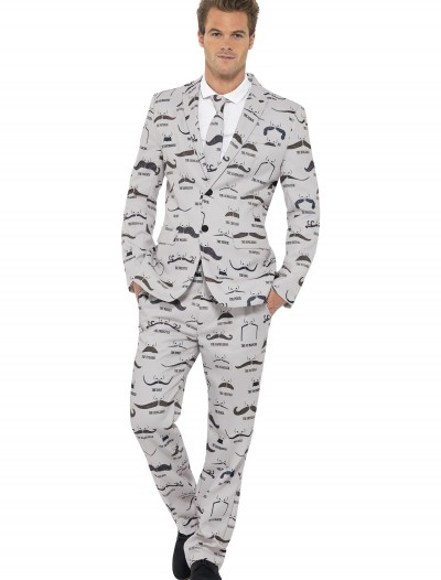 Mens Moustache Suit, halloween costume (Mens Moustache Suit)