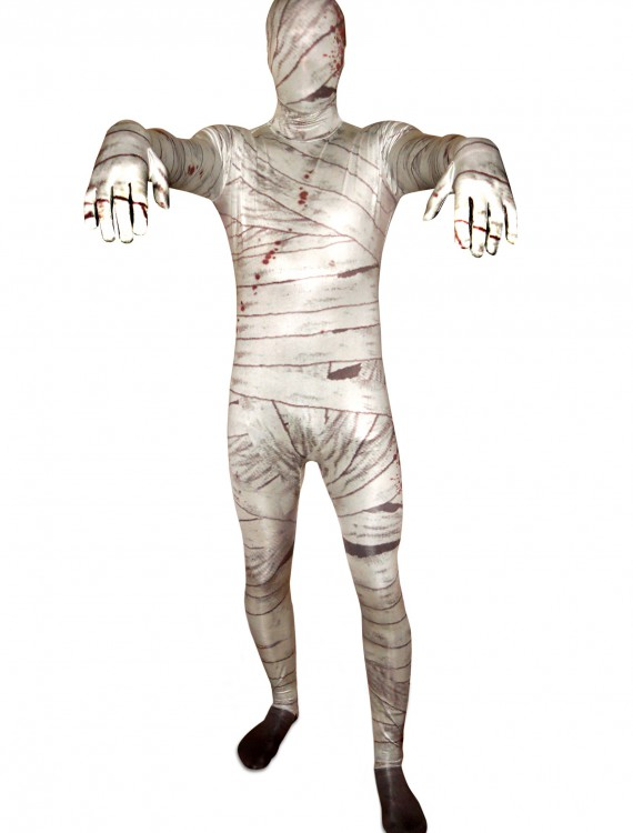 Men's Mummy Morphsuit, halloween costume (Men's Mummy Morphsuit)