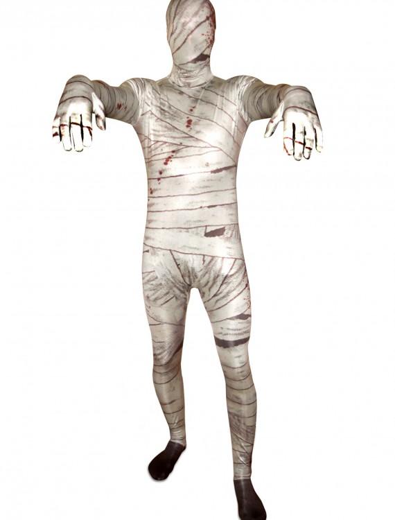 Men's Mummy Morphsuit, halloween costume (Men's Mummy Morphsuit)