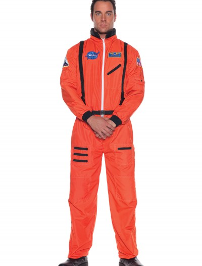 Mens Orange Astronaut Costume, halloween costume (Mens Orange Astronaut Costume)