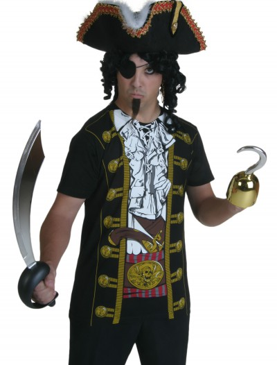 Mens Pirate Costume T-Shirt, halloween costume (Mens Pirate Costume T-Shirt)