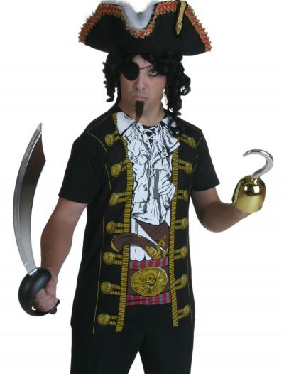 Mens Pirate Costume T-Shirt, halloween costume (Mens Pirate Costume T-Shirt)