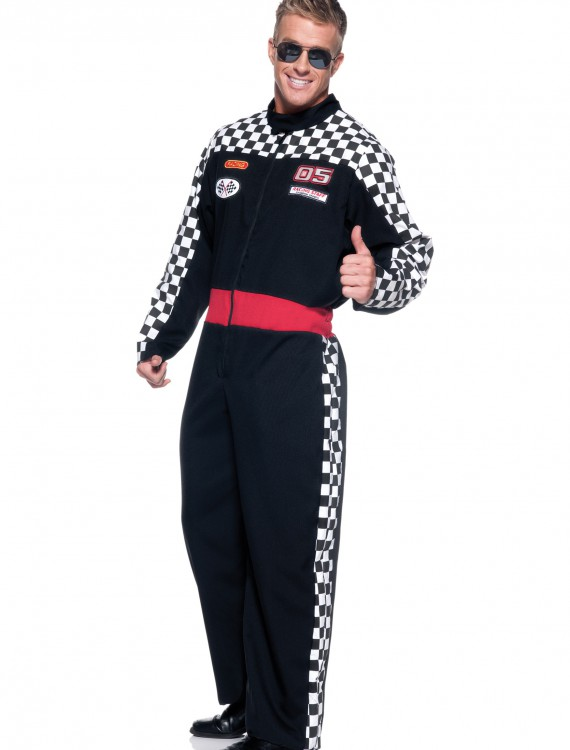 Mens Plus Race Car Driver Costume, halloween costume (Mens Plus Race Car Driver Costume)