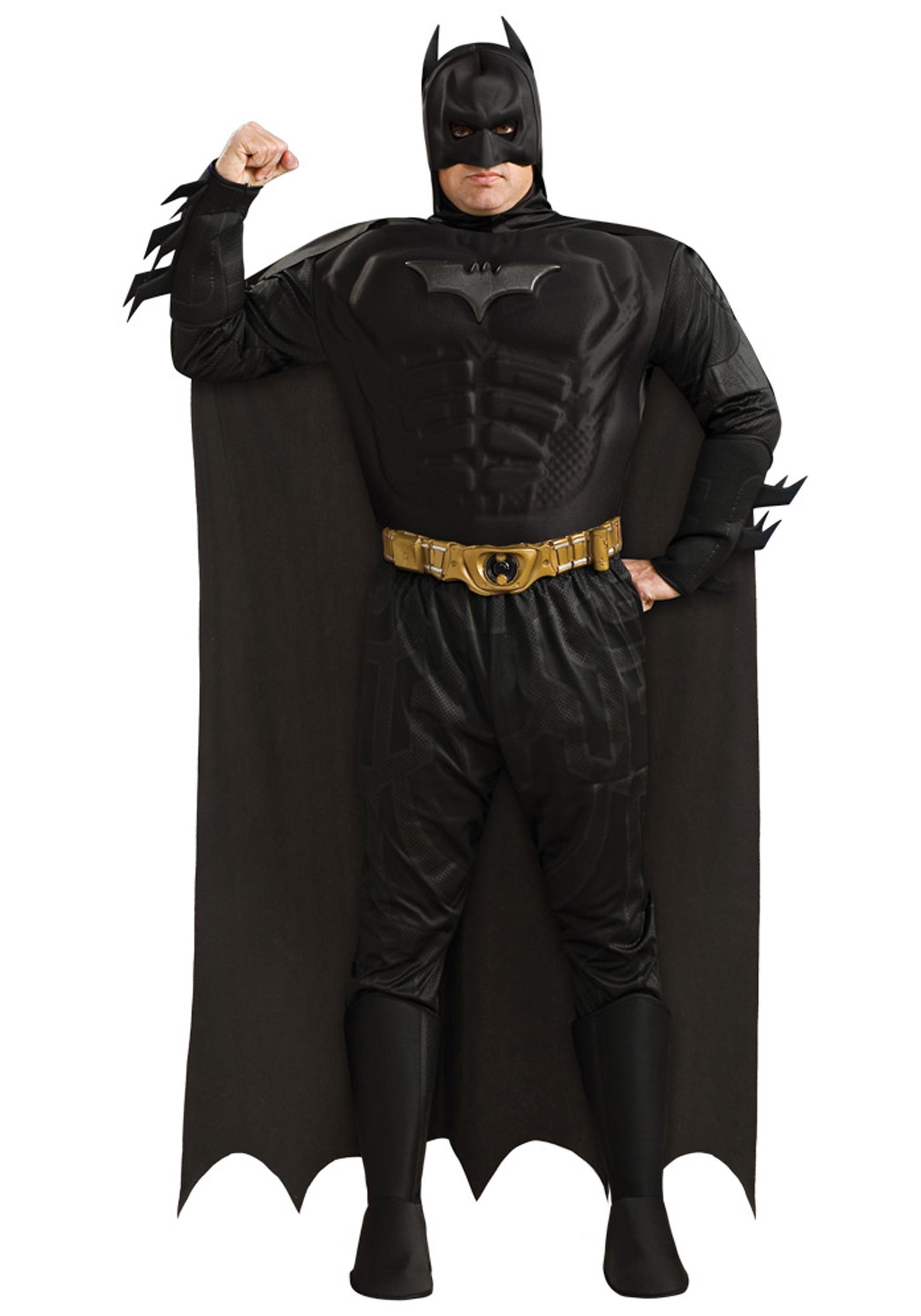 Mens Plus Size Batman Costume  sc 1 st  Halloween Costumes & Mens Plus Size Batman Costume - Halloween Costumes