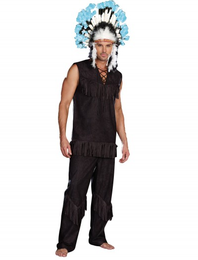 Men's Plus Size Indian Chief Costume, halloween costume (Men's Plus Size Indian Chief Costume)