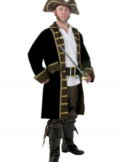 Men's Plus Size Realistic Pirate Costume, halloween costume (Men's Plus Size Realistic Pirate Costume)