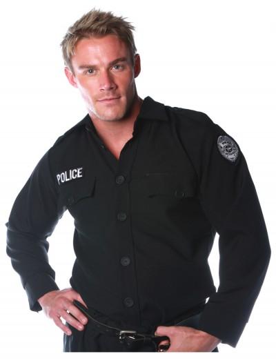 Men's Police Shirt, halloween costume (Men's Police Shirt)