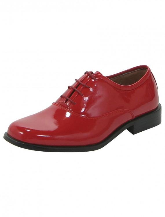 Men's Red Gangster Shoes, halloween costume (Men's Red Gangster Shoes)