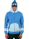 Mens Regular Show Mordecai Costume Hoodie, halloween costume (Mens Regular Show Mordecai Costume Hoodie)