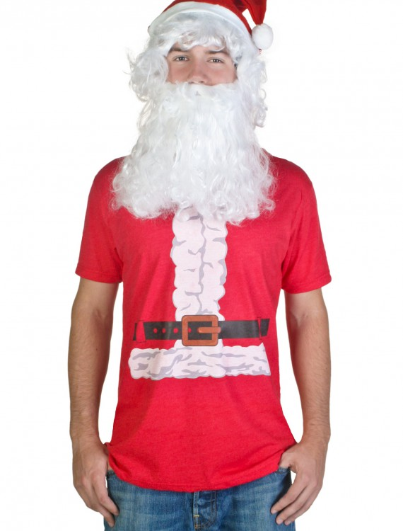 Mens Santa Claus Costume T-Shirt, halloween costume (Mens Santa Claus Costume T-Shirt)