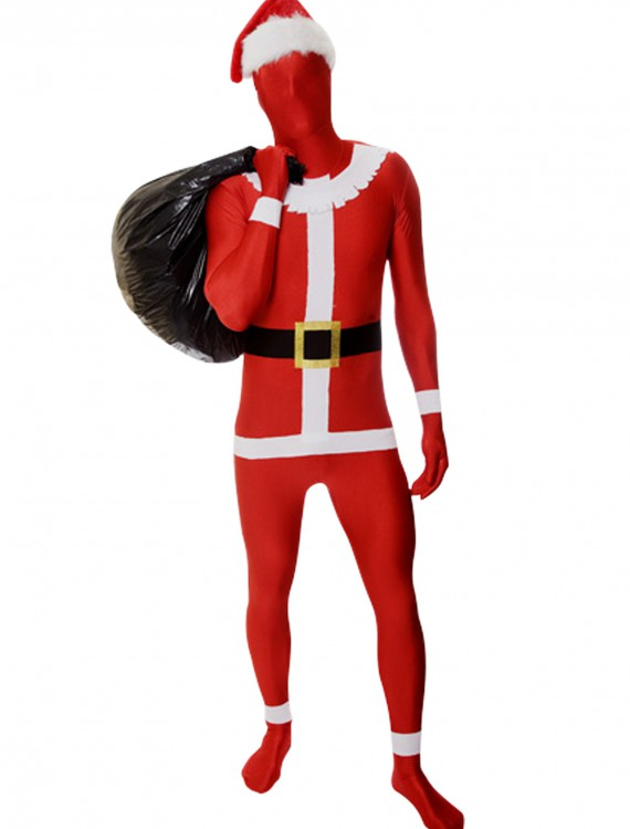 Men's Santa Morphsuit, halloween costume (Men's Santa Morphsuit)