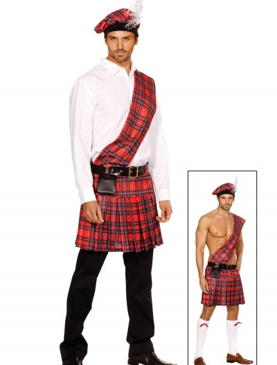 Men's Scottish Kilt Costume, halloween costume (Men's Scottish Kilt Costume)