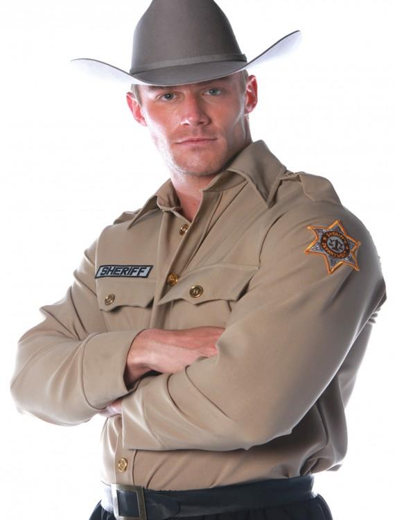 Mens Sheriff Shirt, halloween costume (Mens Sheriff Shirt)